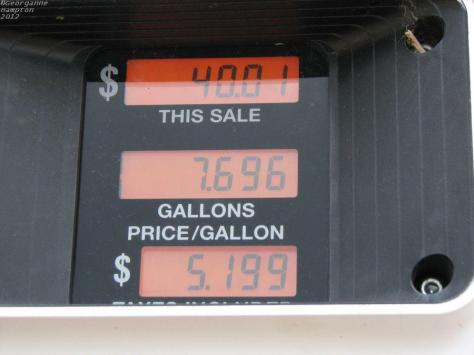 Price of gas on the Haul Road.